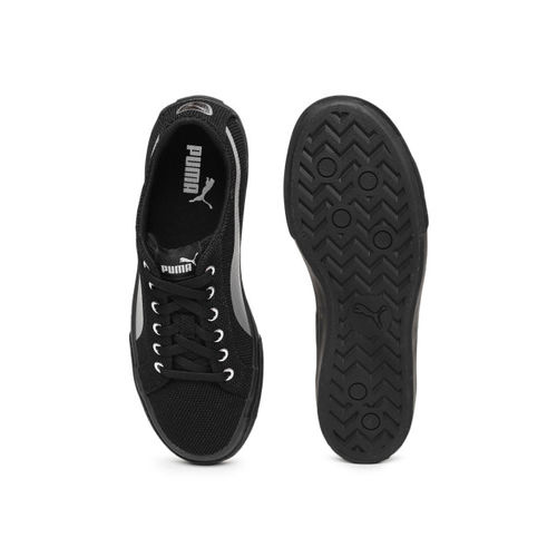 Puma Rap Low Knit IDP Sneakers For Men(Black)
