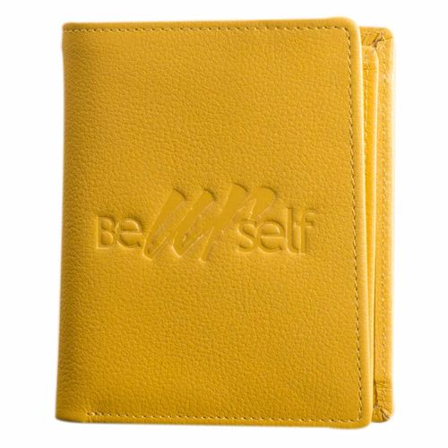 Compact pure leather wallet eZeeBags - BY015v1 - Coin pocket, 6 card slots, double notes section more in a compact format. (Synthetic leather/Rexine)
