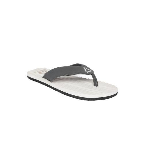 Reebok Men Black & White FEZ LP Solid Thong Flip-Flops