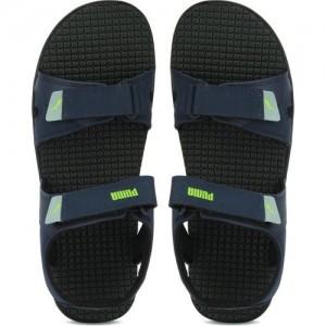 6cc708677157b1 Buy Puma Men Puma Black-Blue Atoll Sports Sandals online