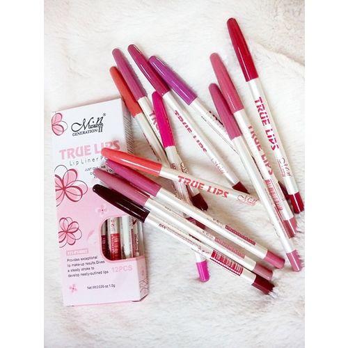 Menow True Lip Pencil Set of 12