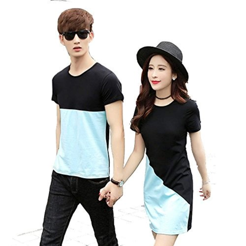 0091fa62 Buy Melcom Multicolor Cotton Couple T Shirt online | Looksgud.in