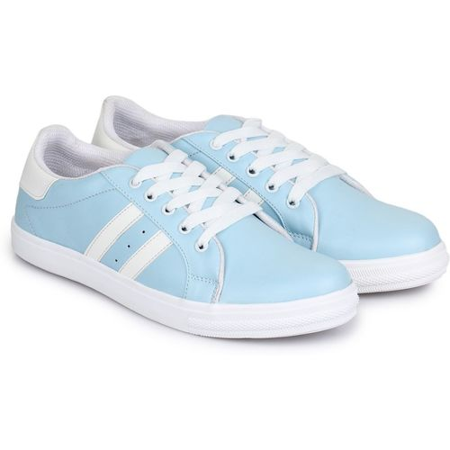 D-SNEAKERZ Women's And Girls Synthetic Leather Casual Partywear Sneakers Shoes Sneakers For Women(Blue)