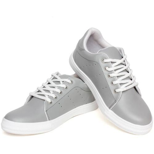 Kelemon Gray Synthetic Lace Up Sneakers