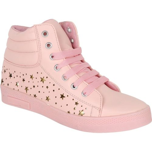 Crab Shoes CS-Boot99PINK Sneakers For Women(Pink)