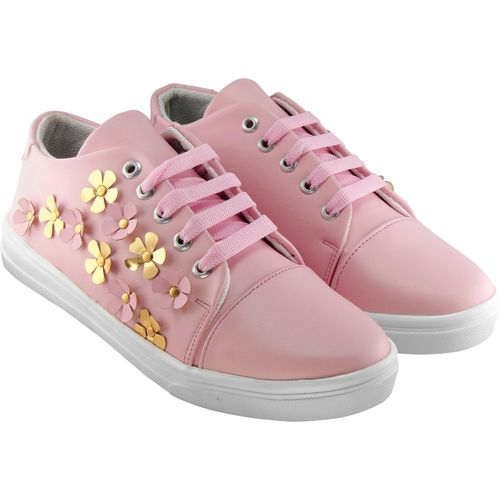 Zapatoz Perfect Stylish Pink Sneakers Shoes For Women Sneakers For Women(Pink)