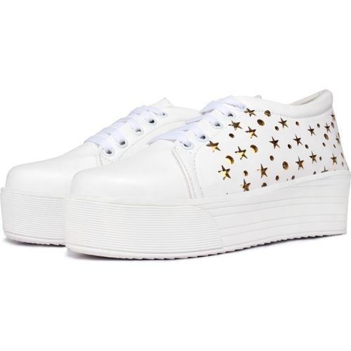 Flaunters Sneakers For Women(White)