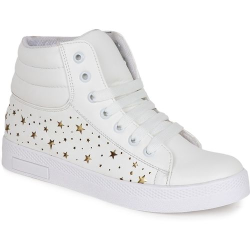 Crab Shoes White Synthetic Lace Up Casual Shoes