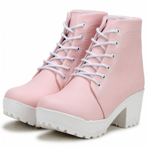 NMD Woman Comfortable Long Pink Shoe Boots Boots For Women(Pink)