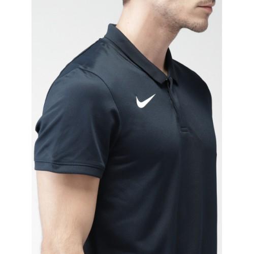 Nike Men Navy Solid Cricket Tshirt