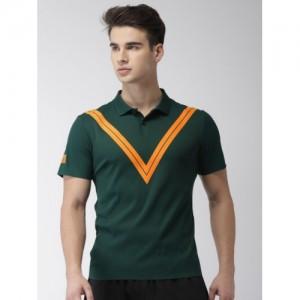85ab86e17d4 Nike Men Green Court Zonal Cooling RF Advantage Printed Polo Collar Tennis T -Shirt