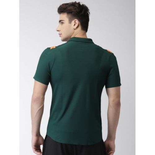 8e345ce88 ... Nike Men Green Court Zonal Cooling RF Advantage Printed Polo Collar  Tennis T-Shirt ...
