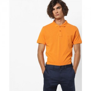 Lee Cotton Polo T-shirt with Ribbed Collar