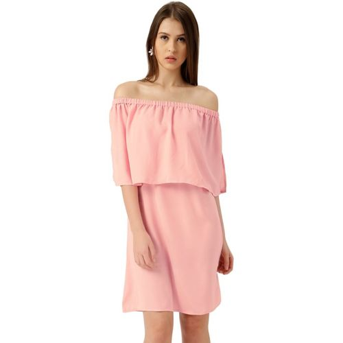 All About You Women Layered Pink Dress