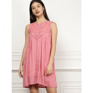 all about you from Deepika Padukone Women Pink Self Design A-Line Dress