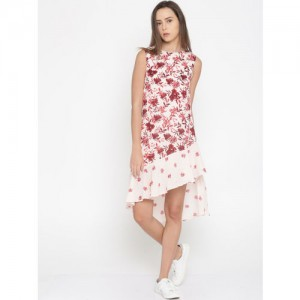 all about you from Deepika Padukone Women Pink Printed Drop-Waist Dress