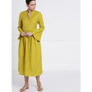 2b22f7854f Buy FOREVER 21 Women Olive Green Solid Sweater Dress online ...