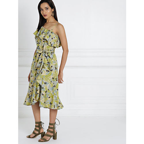 all about you from Deepika Padukone Women Green Printed A-Line Dress