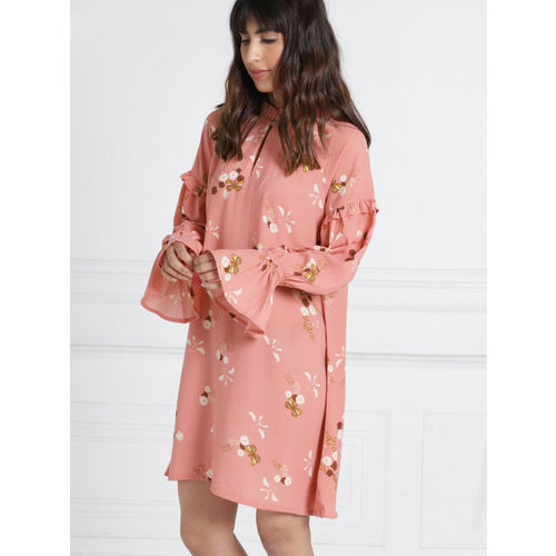 all about you Women Pink Printed A-Line Dress