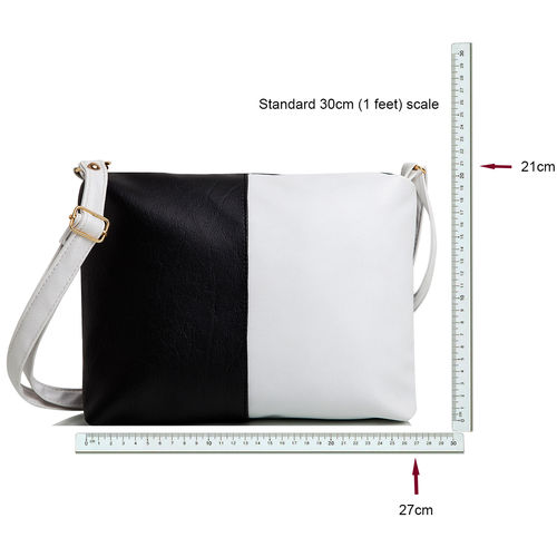 Mammon Women's Cute Sling Bag(slg-blcw, Size-11x8 inch)