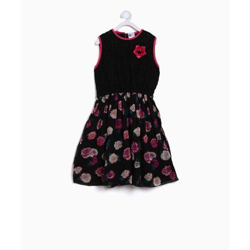 8325d63a8cde Buy 612 League Girls Midi/Knee Length Casual Dress(Black, Sleeveless)  online | Looksgud.in