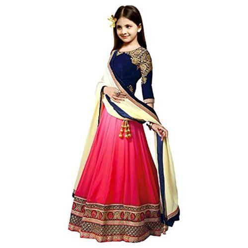 4425c1fb3 Buy MF Retail Girl's Lehenga Choli Ethnic Wear Embroidered Lehenga, Choli  and Dupatta Set(Multicolor, Pack of 1) online | Looksgud.in