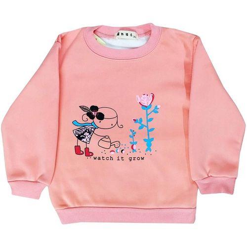 Icable Full Sleeve Graphic Print Girl's Sweatshirt