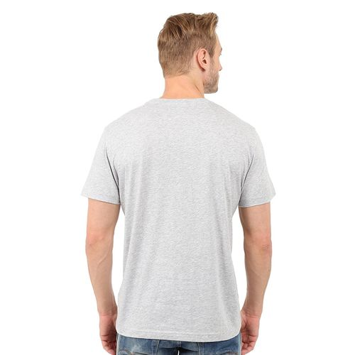 Double F DOUBLE F ROUND NECK LIGHT GREY COLOR THINK OUT SIDE THE BOX PRINTED T-SHIRTS