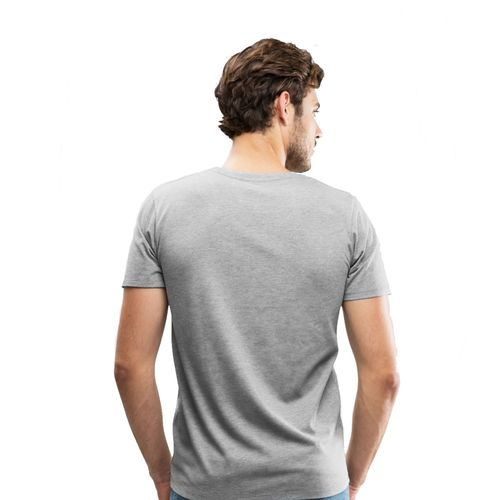 Double F DOUBLE F ROUND NECK HALF SLEEVE LIGHT GREY COLOR YOGA PRINTED T-SHIRTS