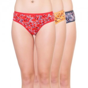 LADY LYKA Women Hipster Multicolor Panty(Pack of 3)