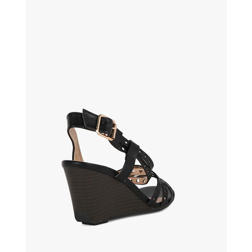 AJIO Wedges with Laser-Cut Straps