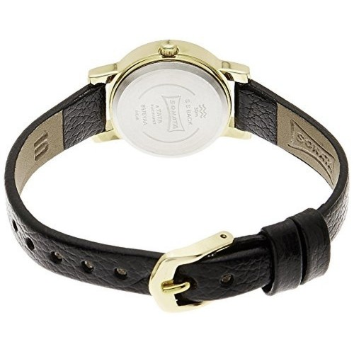 Sonata Black Water Resistant Analog Watch