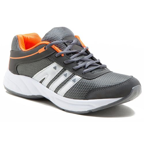 Clymb Men's Gray Orange Running Shoes