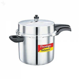 Prestige Silver Stainless Steel Deluxe Plus Alpha Pressure Cooker, 10 litres