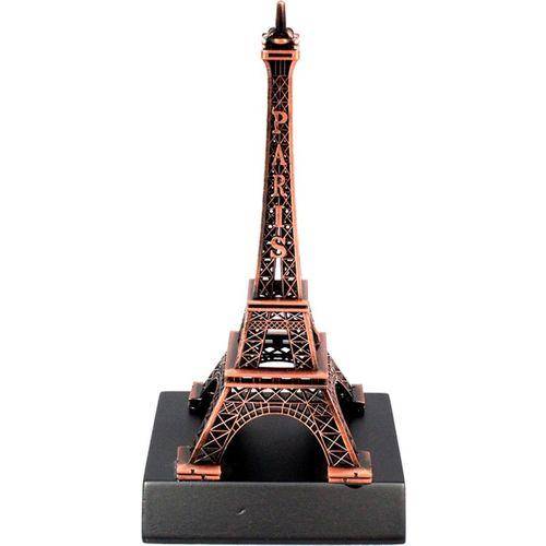 Stealodeal Eiffel Tower Souvenir Decorative Showpiece - 14 cm(Brass, Copper)