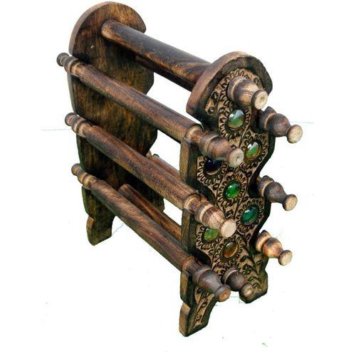 Art N Crafts bangle stand Decorative Showpiece - 22 cm(Wooden, Brown)