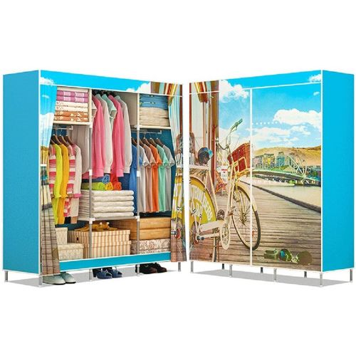 f443f8e1492 Buy FurnCentral PP Collapsible Wardrobe(Finish Color - Time Cycling) online