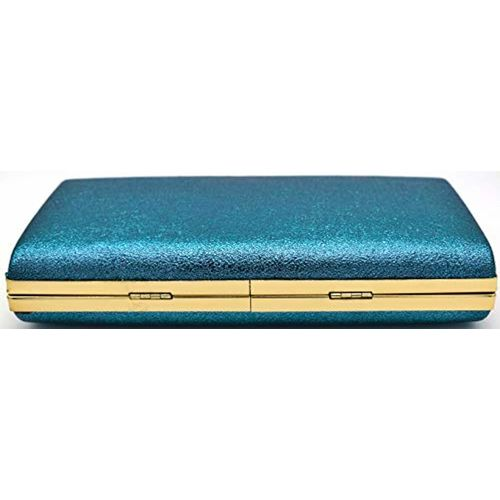 Tooba Handicraft Blue Party Wear Box Clutch Casual, Party, Wedding