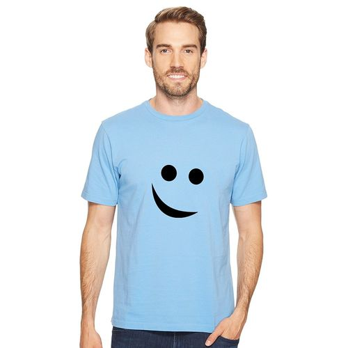 DOUBLE F ROUND NECK SMILE PRINTED T-SHIRTS