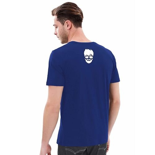Double F DOUBLE F ROUND NECK ROYAL BLUE COLOR BEARD BOY PRINTED T-SHIRTS