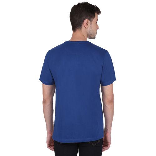 Felix Paul Printed Men's Round Neck Blue T-Shirt