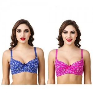 c3990d8d2cb56 low price mall Women s pack of 2 Push-up Padded Bra ( color print may