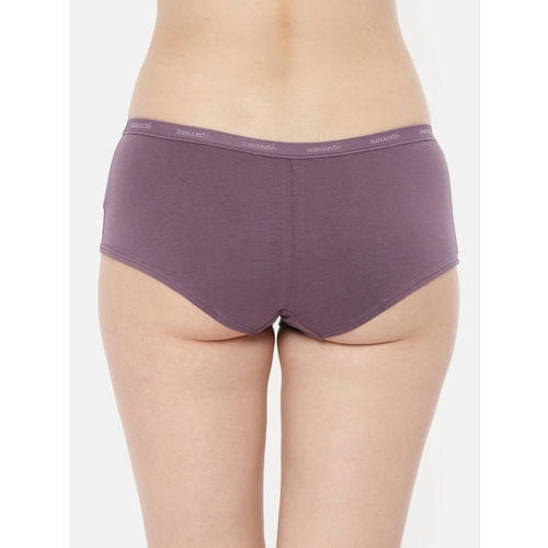 Amante Women Pack of 2 Solid Boyshorts PPK62001