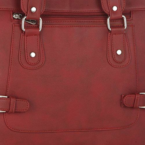 Fostelo Multicompartment Women's Handbag (Maroon)