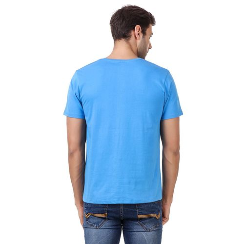Double F DOUBLE F ROUND NECK HALF SLEEVE BLUE COLOR SINGAPURE PRINTED T-SHIRTS