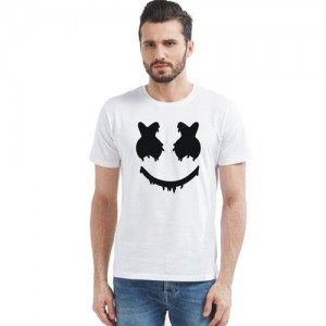 MARSHMALLOW GRAPHIC PRINTED STYLISH ROUND NECK T-SHIRT..