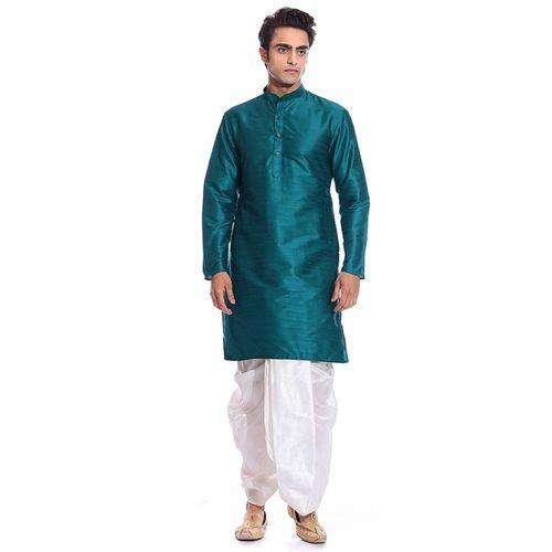 Arose Fashion Green Kurta Dhoti Set