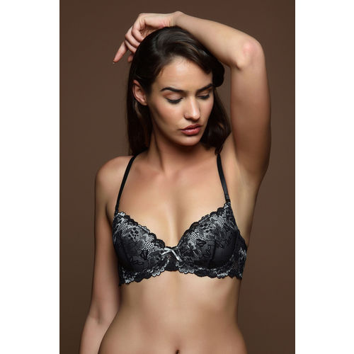 fcc0d7bb29 ... Zivame Cuppa Contrast Graduated Lift Multiway Underwired Bra- Black ...