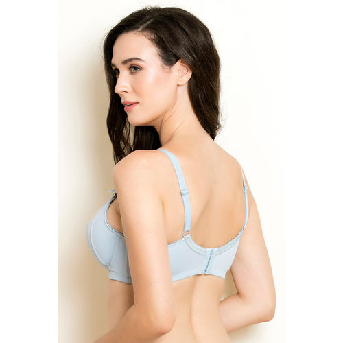 ... Zivame Essentials Geometric Lace Embellished Spacer Cup Underwired Bra-  Teal ... 3cb02da80