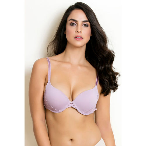 89ece6dd3c17a Buy Zivame LuxeLace Moderate Lift Push Up Bra - Pink online ...